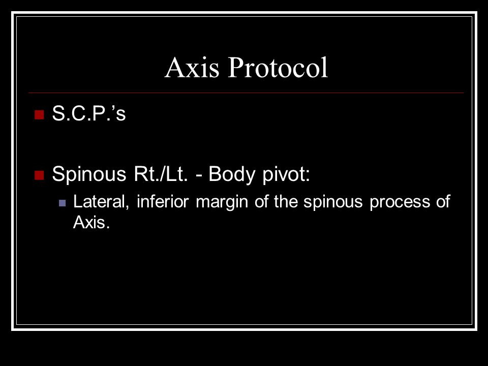 Axis Protocol S.C.P.'s Spinous Rt./Lt.