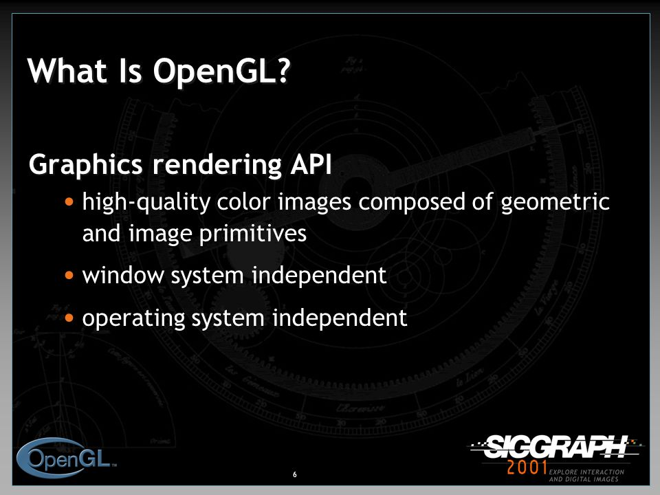 6 What Is OpenGL.