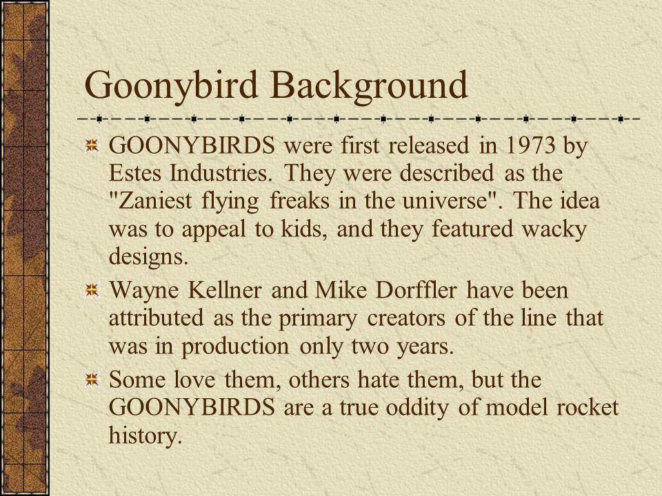 More Goonybird Designs Goonie Viper (Estes Colonial Viper) Goonie X-Wing (Estes Star Wars X-Wing)