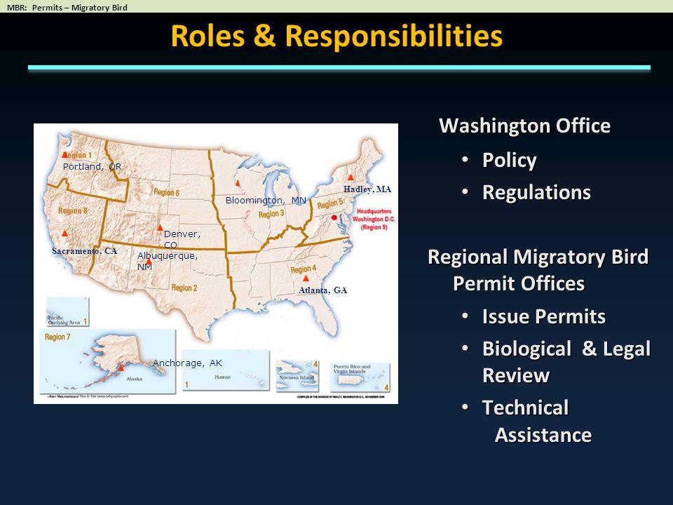 Active Permits = 50,456 FY 2012 14,775 Migratory Bird & Eagle Permits Processed R1R2R3R4R5R6R7R8 1,1341,7653,3261,8002,6032,3192671,530 Migratory Bird Permit Program 6,19014,42210,0384,3634,7317,2885252,899