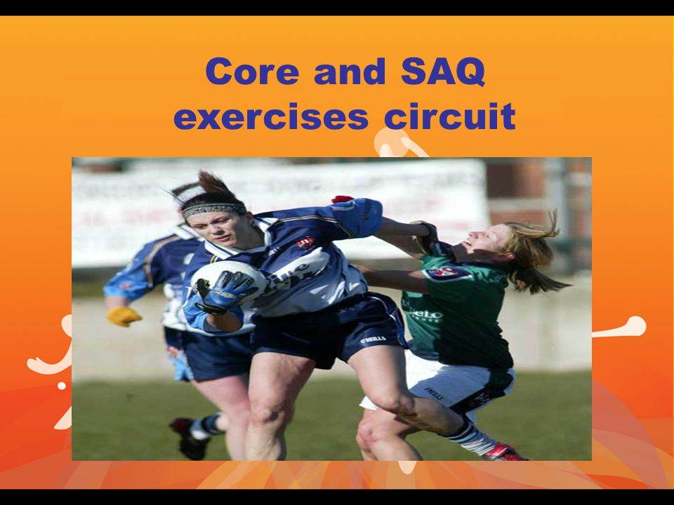 Core and SAQ exercises circuit