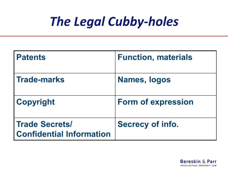 The Legal Cubby-holes