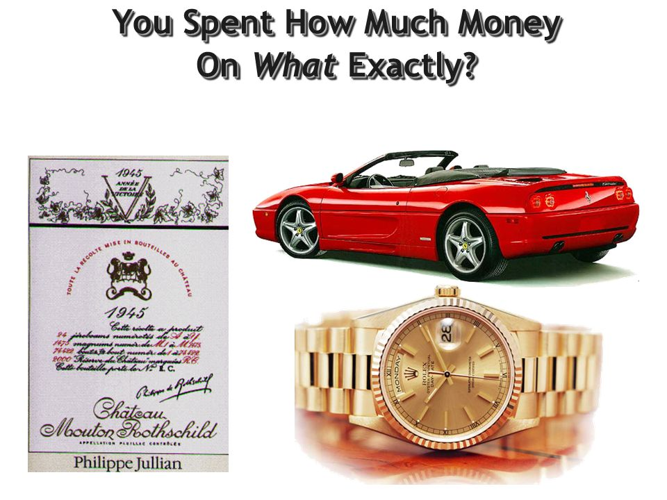 You Spent How Much Money On What Exactly?