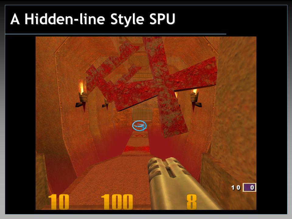 A Hidden-line Style SPU