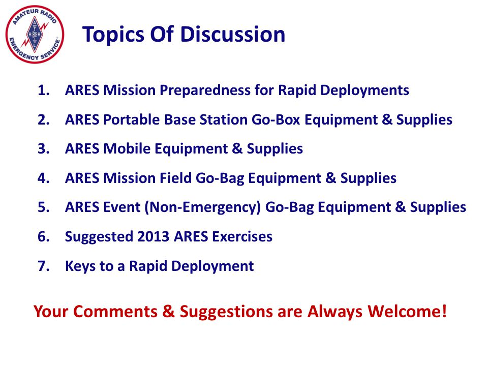 1.Do you know the call-up procedures for Cherokee County ARES deployment.