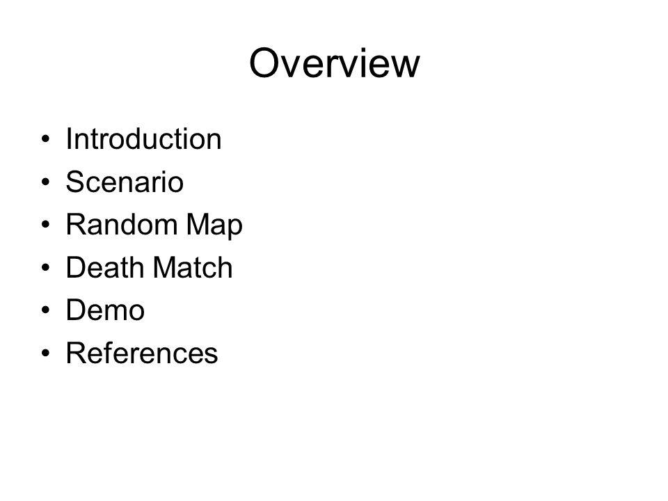 Overview Introduction Scenario Random Map Death Match Demo References