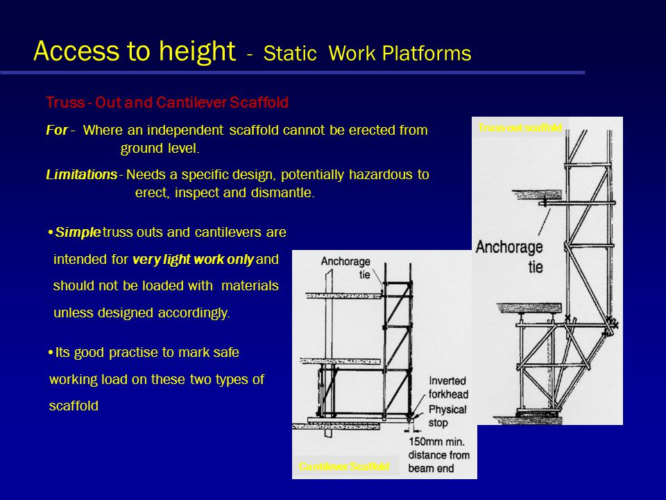 Access to height - Static Work Platforms Birdcage Scaffold For - Provides access and a working platform below ceilings and soffits, for M & E installa