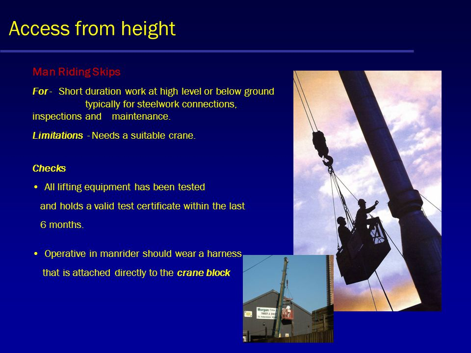 Access to height - Other Trestles A common piece of equipment found on most construction sites and used mainly by finishing trades such as plasters an