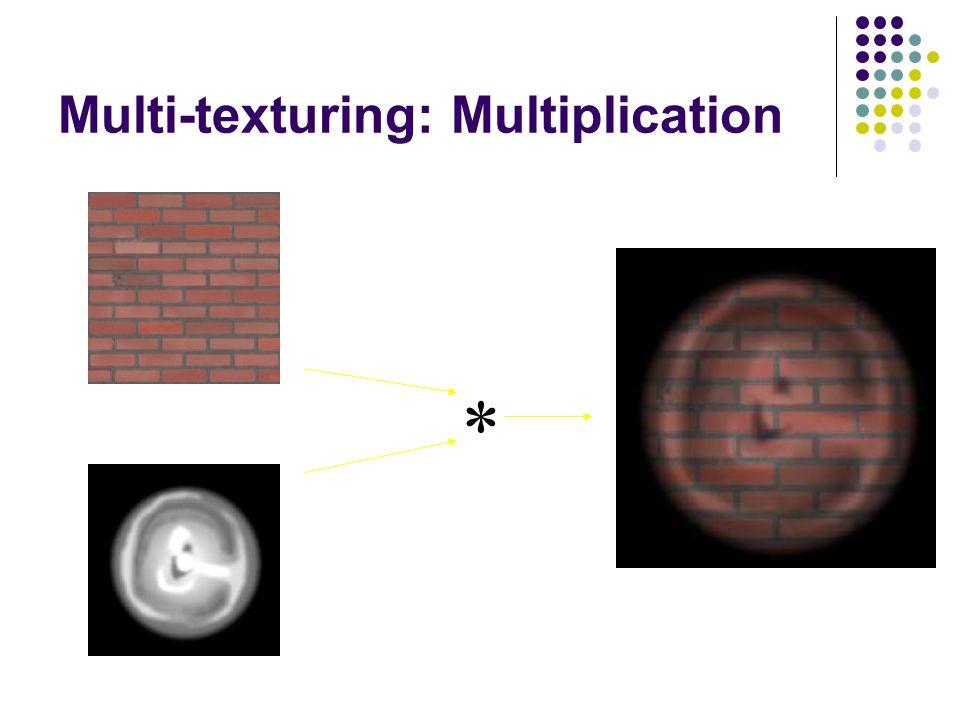 Multi-texturing: Multiplication *