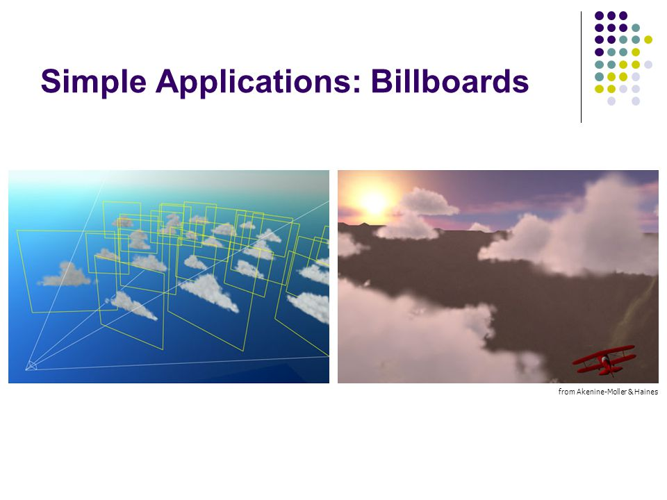Simple Applications: Billboards from Akenine-Moller & Haines