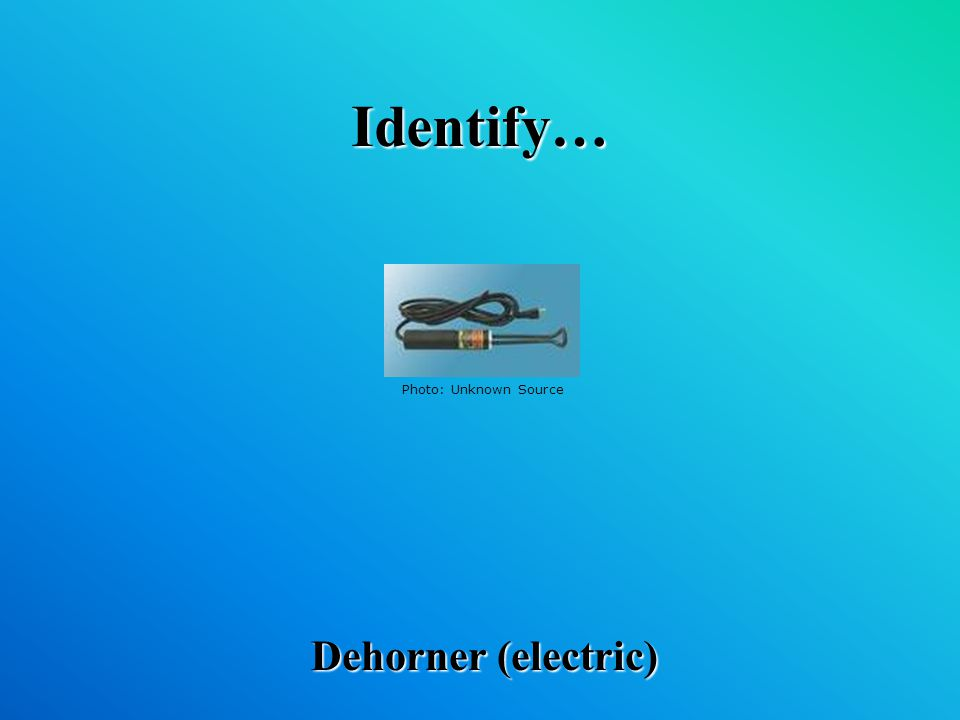 Identify… Dehorner (electric) Photo: Unknown Source