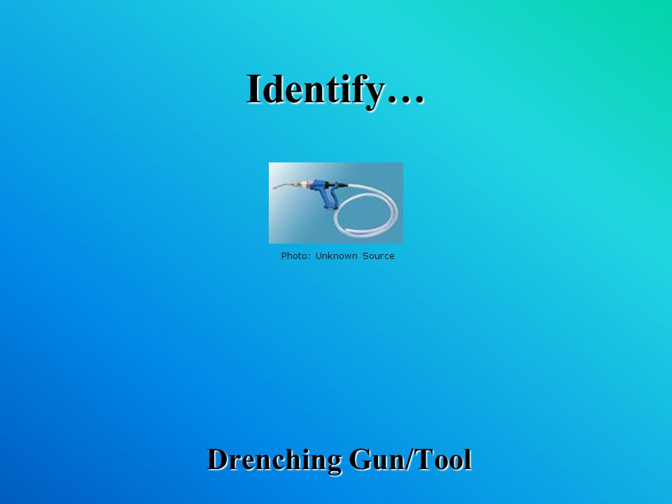 Identify… Drenching Gun/Tool Photo: Unknown Source