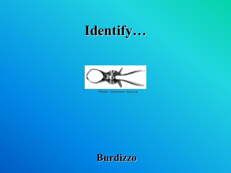 Identify… Burdizzo