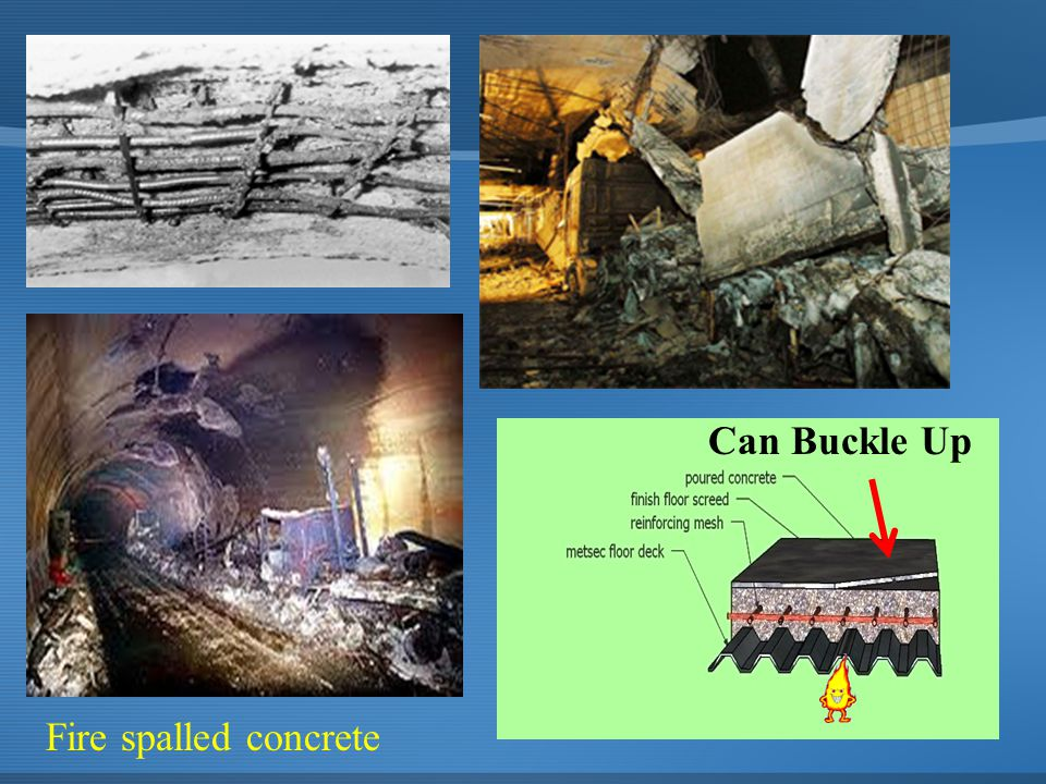 Can Buckle Up Fire spalled concrete
