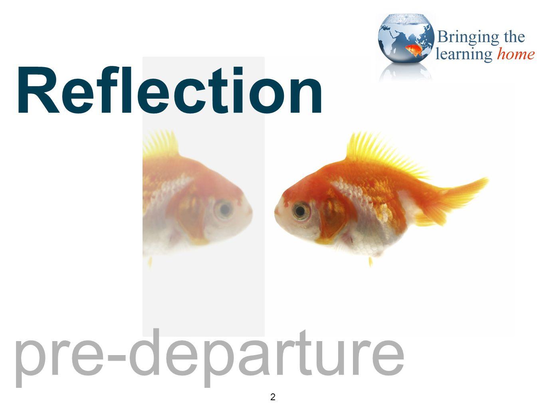 Reflection pre-departure 2