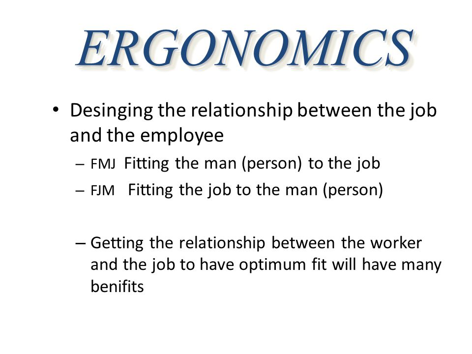 ERGONOMICS-RELATED INJURIES  Strains/Sprains (difference?)  Low Back Pain (LBP)  Herniated Disc  Tendinitis  Tenosynovitis  Epicondylitis  Thoracic Outlet Syndrome  DeQuervain's Syndrome  Ganglionic Cysts  Carpal Tunnel Syndrome (CTS)  Eye Fatigue