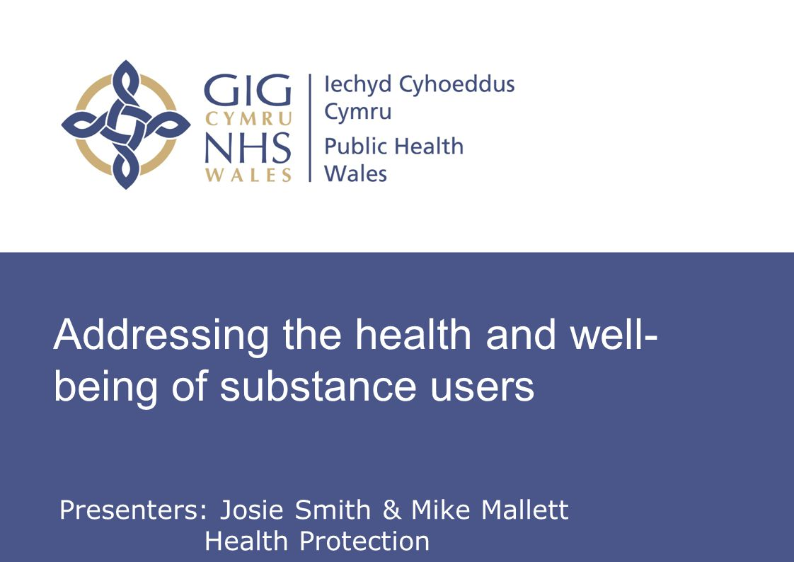 Hepatitis C Action in Wales – roles and responsibilities Addressing the health and well- being of substance users Presenters: Josie Smith & Mike Malle