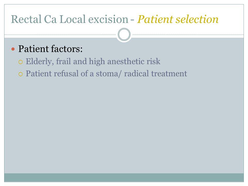 Colorectal Cancer Surgery Questions.