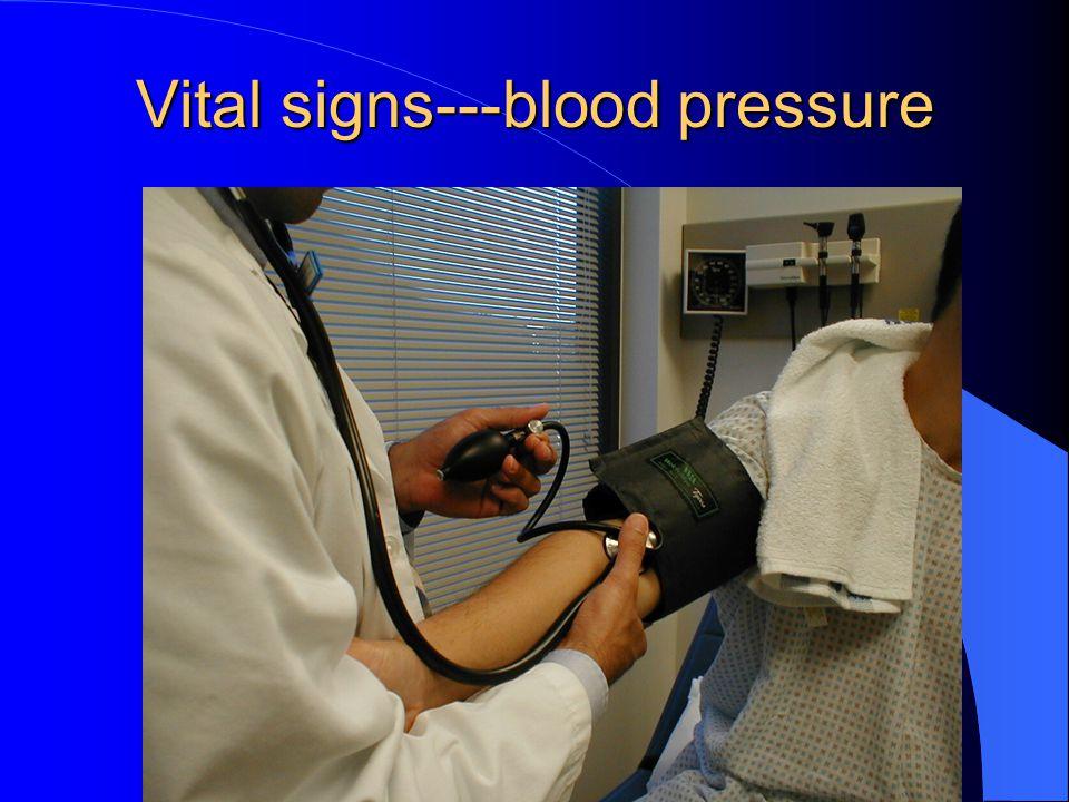 Vital signs---blood pressure