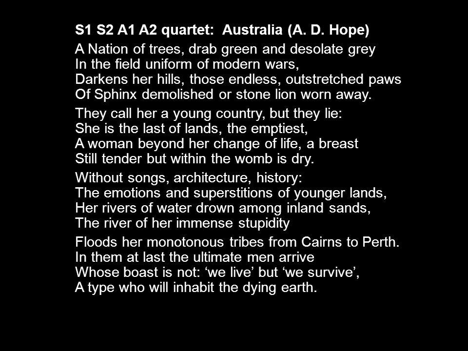 S1 S2 A1 A2 quartet: Australia (A. D.