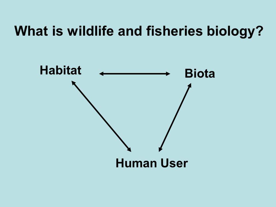 Habitat Biota Human User What is wildlife and fisheries biology