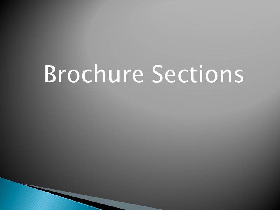 Brochure Sections