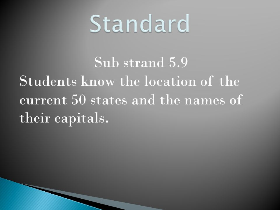 Students will research one of the 50 states and create a travel brochure for that state.