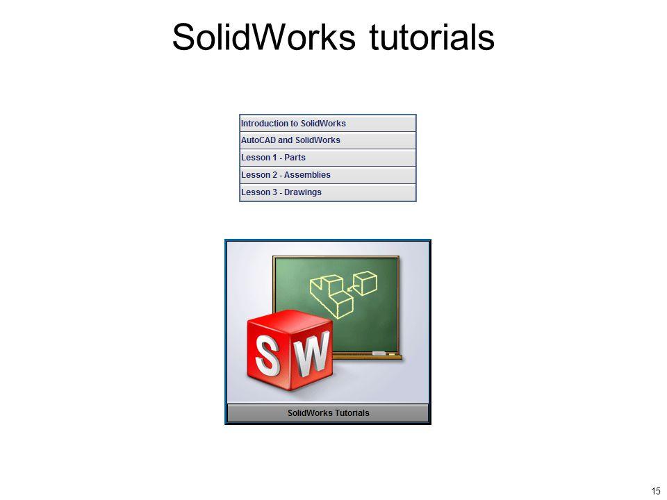 15 SolidWorks tutorials