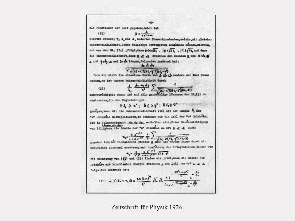 Zeitschrift für Physik 1926