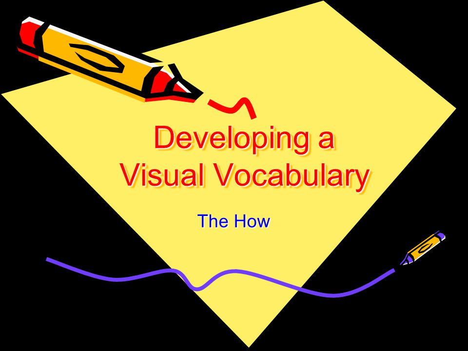 Developing a Visual Vocabulary The How