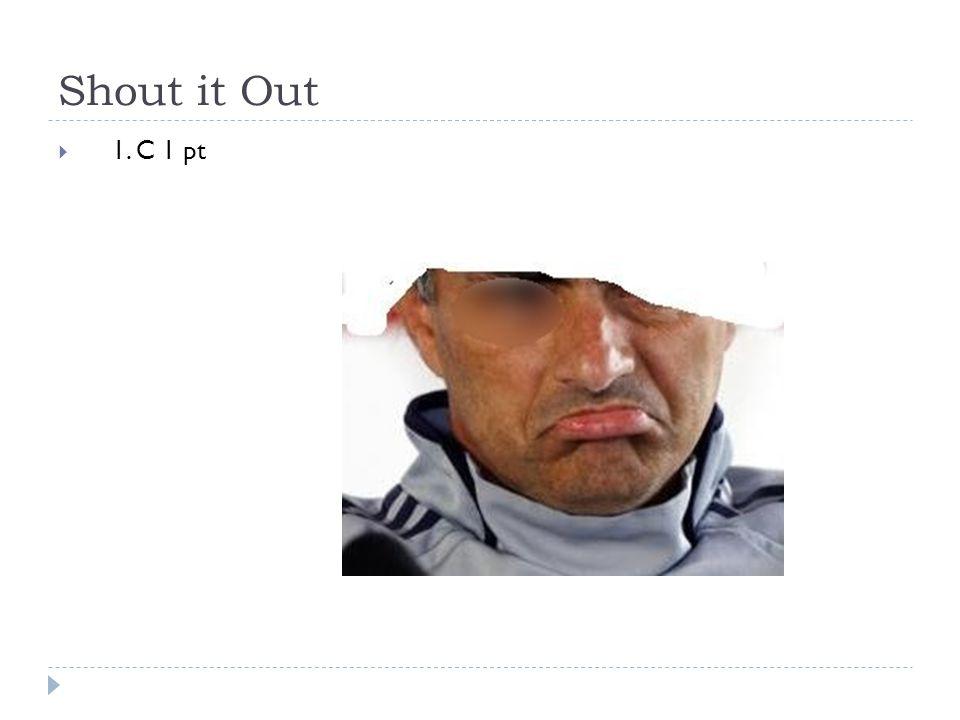 Shout it Out  1. C 1 pt
