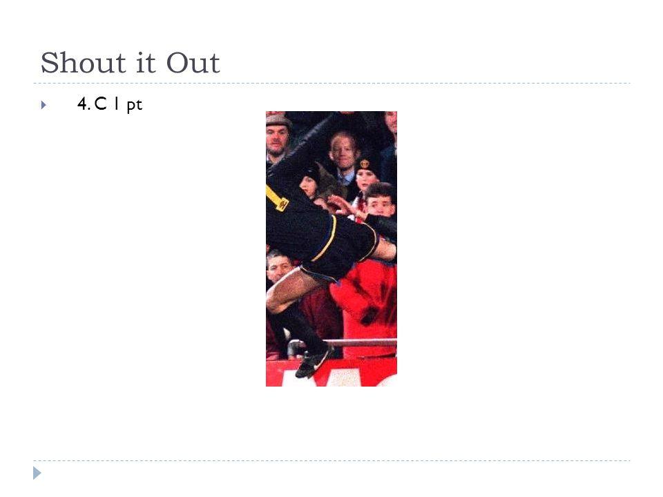 Shout it Out  4. C 1 pt