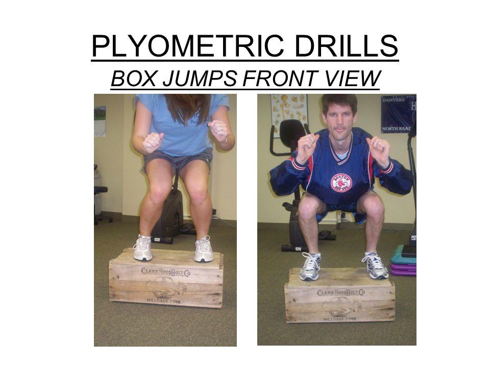 PLYOMETRIC DRILLS BOX JUMPS FRONT VIEW