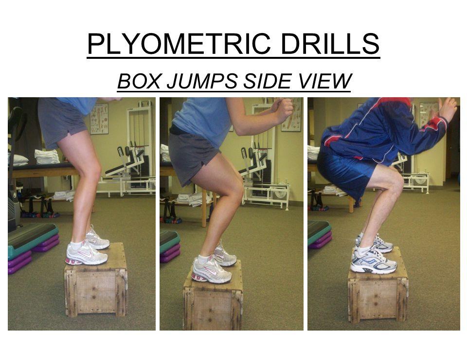PLYOMETRIC DRILLS BOX JUMPS SIDE VIEW