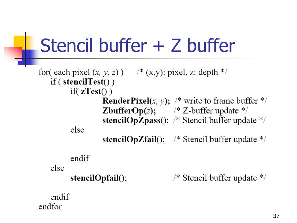 37 Stencil buffer + Z buffer