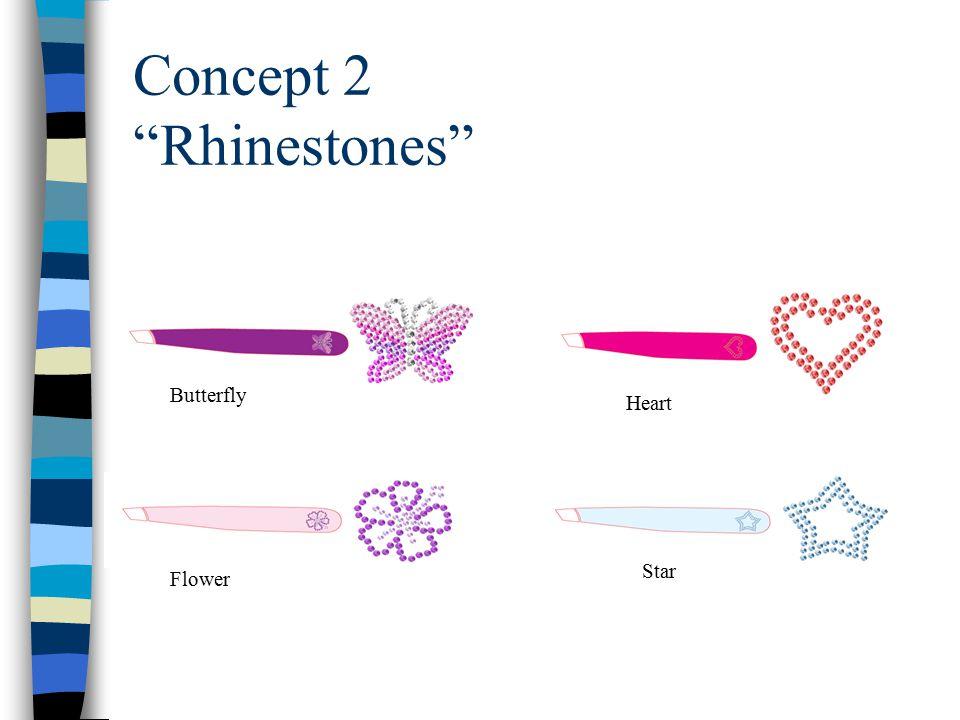 Concept 2 Rhinestones Star Butterfly Heart Flower
