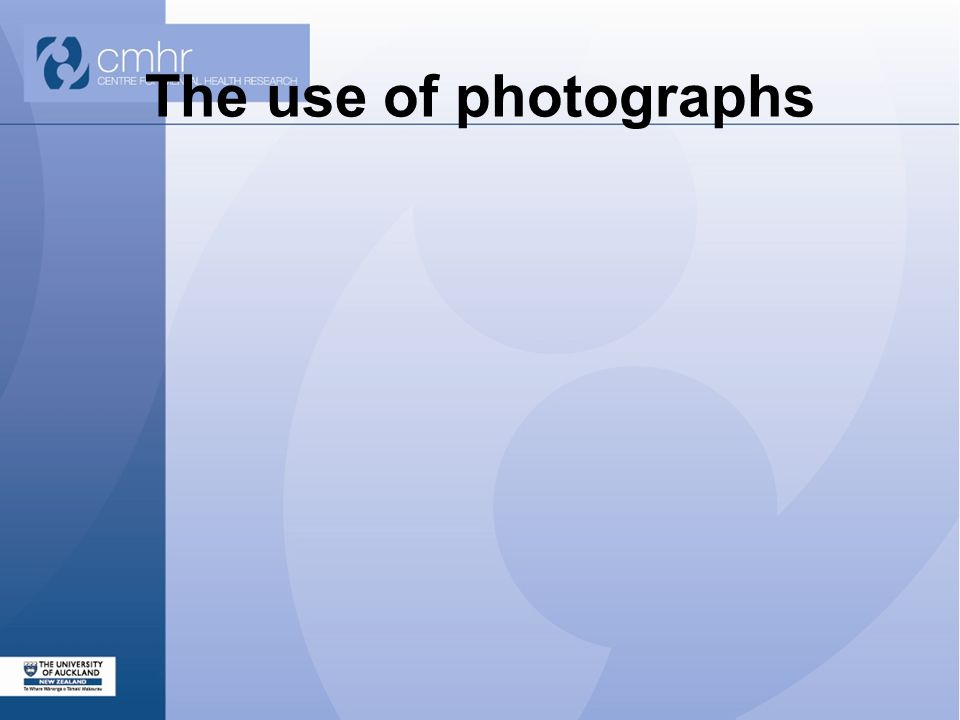 The use of photographs
