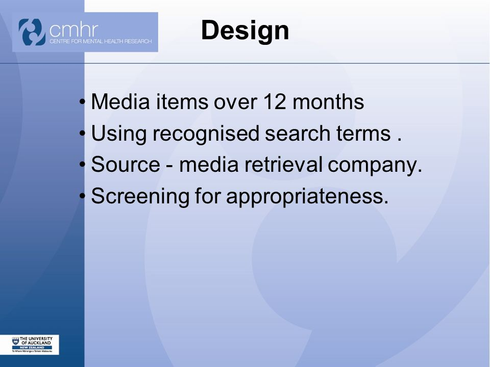 Design Media items over 12 months Using recognised search terms.