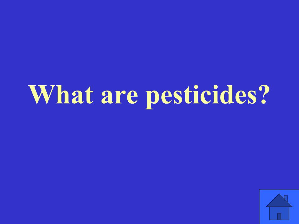 What are pesticides