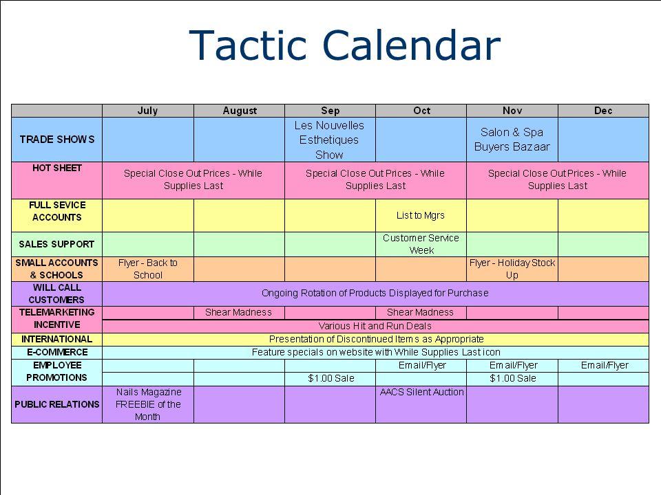 Tactic Calendar