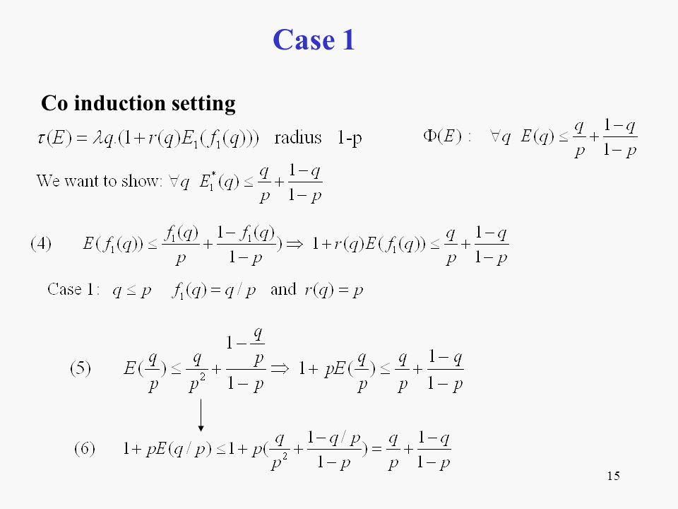 15 Case 1 Co induction setting