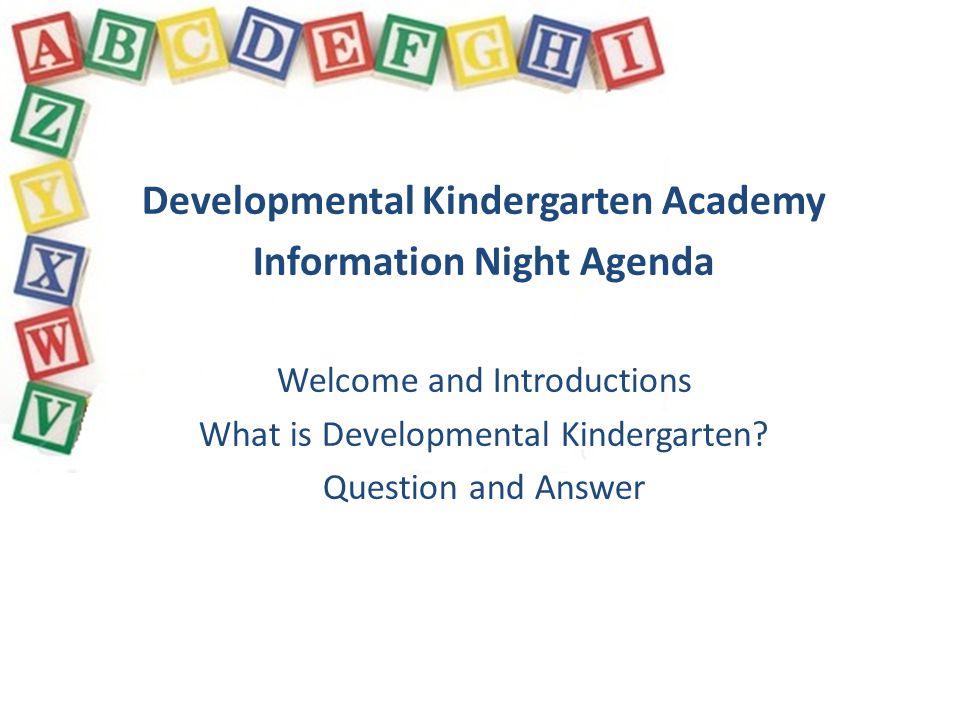 How is DKA different from Kindergarten .