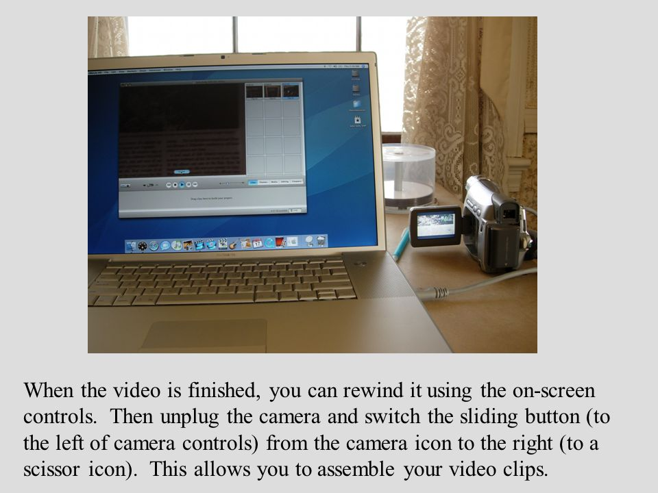 Drag the clips from the upper right down to the horizontal space at the bottom of the window.