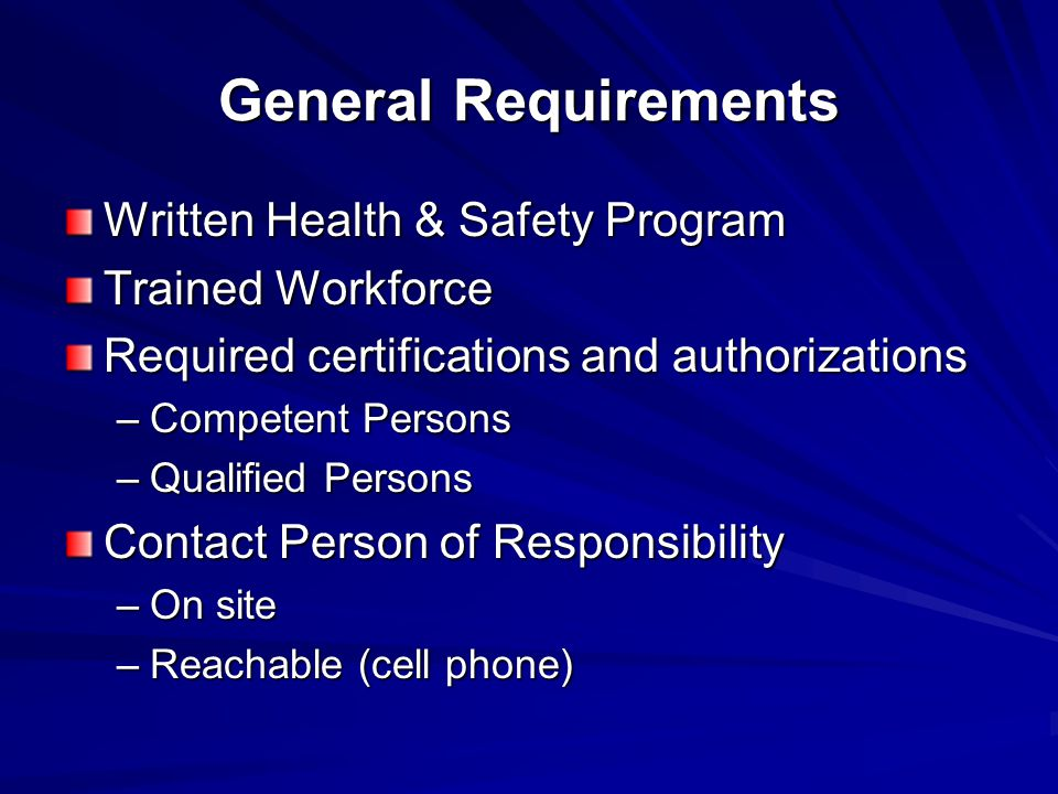 Pre-Work Process Check / Sign in at Guardhouse All personnel must be accounted for Check in with Clow Contact Person before performing work Ensure that personnel understand the hazards of the job and their work tasks