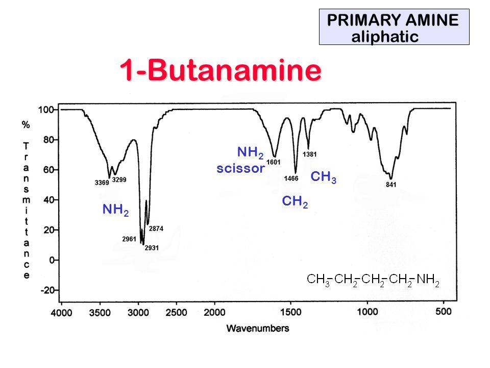 NH 2 scissor CH 2 CH 3 PRIMARY AMINE aliphatic 1-Butanamine