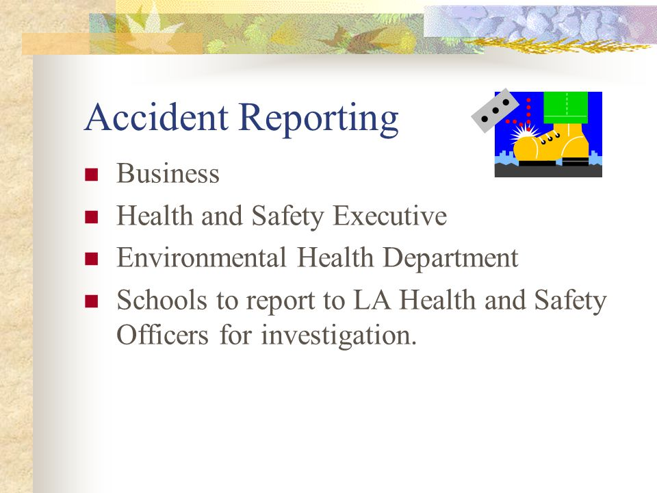 Accident Reporting:- R.I.D.D.O.R  Major injury.