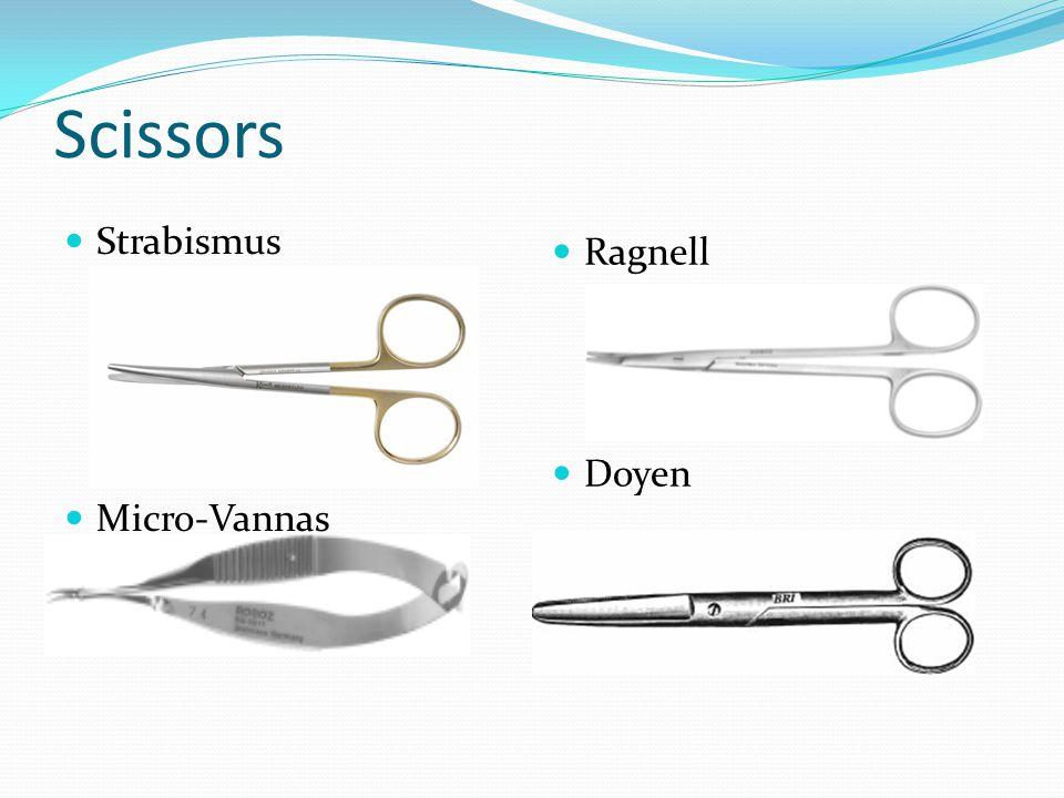 Scissors Strabismus Micro-Vannas Ragnell Doyen