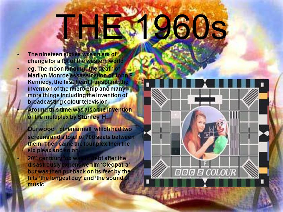 THE 1960s The nineteen sixties was an era of change for a lot of the western world eg. The moon landing, the death of Marilyn Monroe assassination of