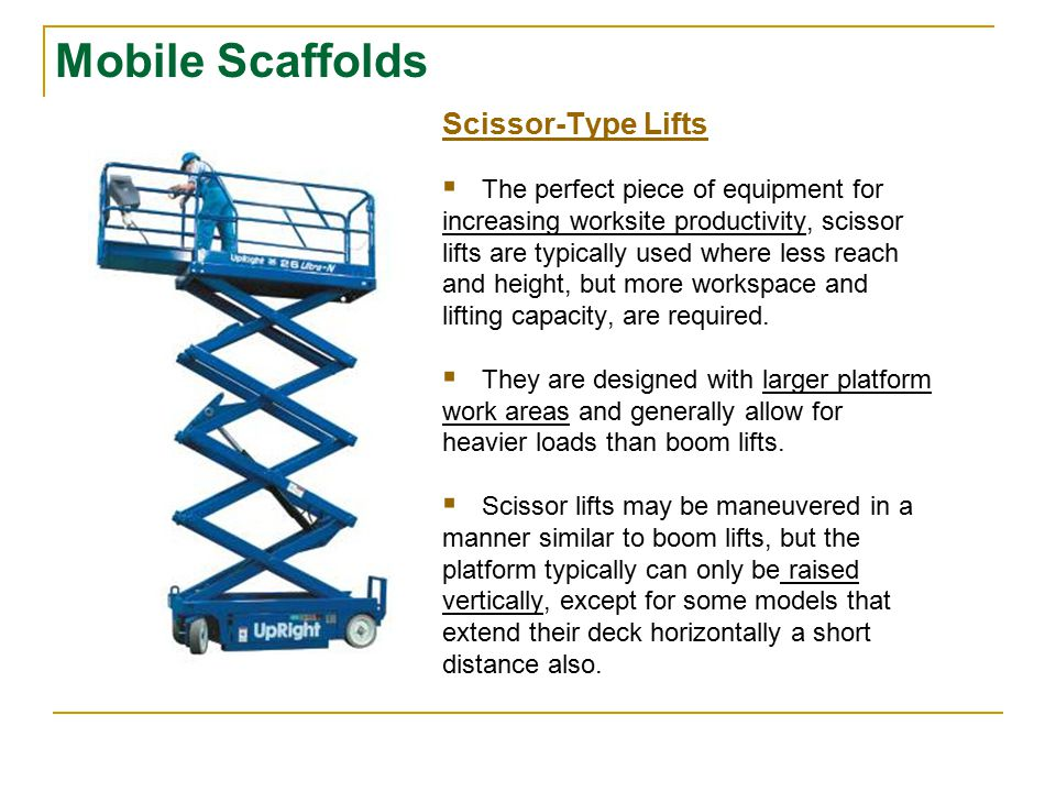 Mobile Scaffolds Mobile Towers  Mobile towers are lightweight, with fast assembly and dismantling usually needing no special tools.