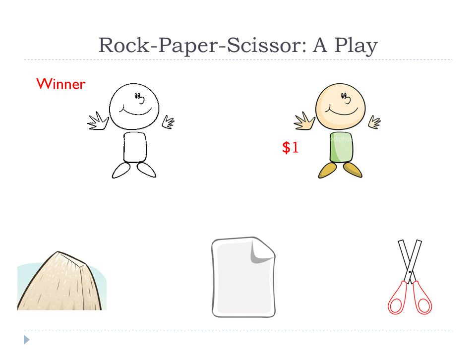 Rock-Paper-Scissor: A Play Winner $1$1